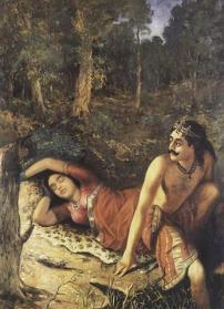Raja_Ravi_Varma_-_Mahabharata_-_NalaDamayanti